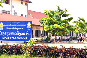 Sikhottabong Secondary School is one of 40 schools in Vientiane to have been declared drug-free.