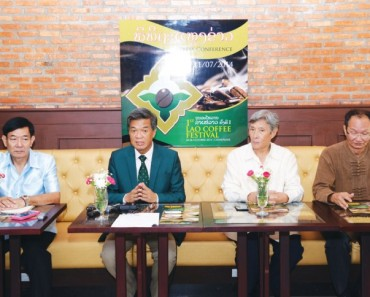 A press conference on the first Lao coffee festival